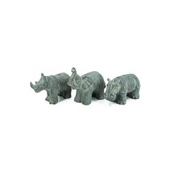 HTI-Living Gartenfigur Tierfigur 3er Set Elefant, Nashorn, Nilpferd, (3 St)