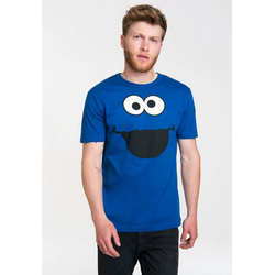 LOGOSHIRT T-Shirt mit süßem Print Krümelmonster - Cookie Monster blau S