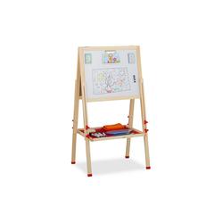 relaxdays Standtafel Doppelseitige Standtafel für Kinder