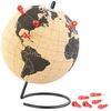 infactory Drehbarer Kork-Globus mit 10 Pins zum Markieren, Ø 15 cm