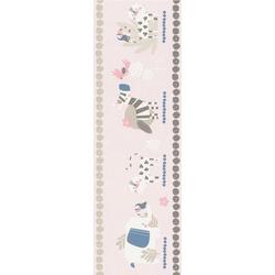 Rasch Bordüre Bambino XVIII, glatt, gemustert, (1 St) rosa