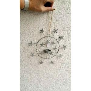 Stern Sternenmobile Fensterhänger für Teelicht 24cm Metall -