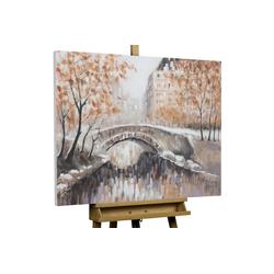 KUNSTLOFT Gemälde Brücke zu dir, handgemaltes Bild auf Leinwand