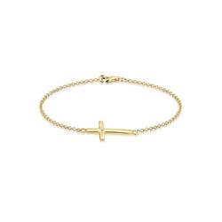 Elli Armband Kreuz Swarovski Kristall Silber vergoldet, Kreuz 19