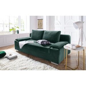 COLLECTION AB Schlafsofa, mit Federkern, inklusive Bettfunktion und Bettkasten grün