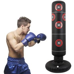 Boxsack Standboxsack Kinder 160cm Aufblasbare Boxsäule Fitness Krafttraining Dekompression Standboxsack für zum Üben von Karate Taekwondo Kick Kampftraining