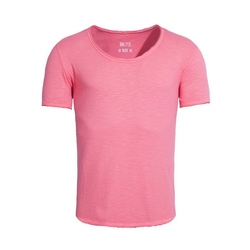 Akito Tanaka T-Shirt New Basic mit lässig geschnittenen Kanten lila S