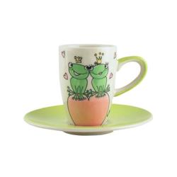 Mila Espressotasse Mila Keramik Espresso-Tasse mit Untere True Love 2