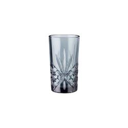 BUTLERS Longdrinkglas CRYSTAL CLUB 4x Longdrinkglas 330ml grau 16.40 cm x 15 cm