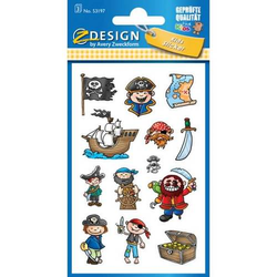 Sticker 76x120mm Papier 3 Bogen Motiv Piraten