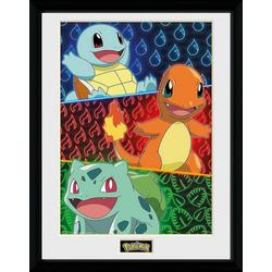 GB eye Bild mit Rahmen Pokémon - Shiggy, Glumanda & Bisasam- Collector Print