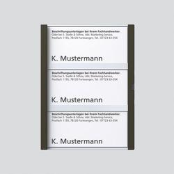 Siedle TM 612-3, BTM 650-03 GM Namensschild komplett (200029791-00)