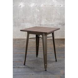 KAWOLA Esstisch VILDA, Bistrotisch Holz/Metall 60x60 cm