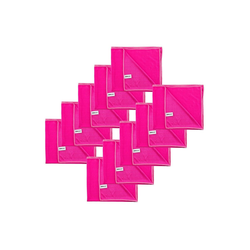 Kochblume Geschirrtuch Poliertuch 50 x 60 cm, (Spar-Set, 10-tlg), 280g/qm Qualtität rosa