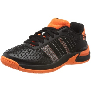Kempa Attack Contender JUNIOR Sneaker, schwarz/Fluo orange, 33 EU