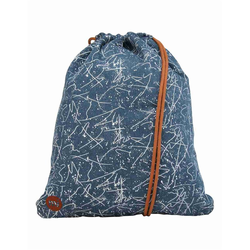 Gymsack MI-PAC - Kit Bag Denim Squiggle Mid Blue White (005)