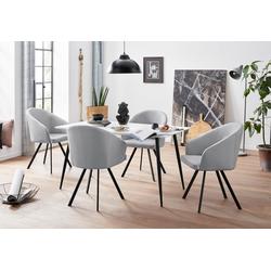 Essgruppe, mit 4 Stühle weiß