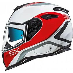 Nexx SX.100 Popup Jethelm - Rot/Weiß - M