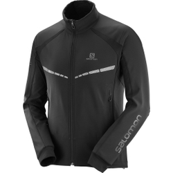 Salomon - Rs Warm Softshell Jacket M Black - Softshells - Größe: S