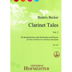 Clarinet Tales Vol. 2 für Bassklarinette (oder Klarinette) und Klavier. Vol.2