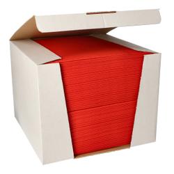 Papstar ROYAL Collection Servietten, 40 x 40 cm, rot, 3-lagige Premium-Servietten in Stoffoptik, 1 Spenderbox = 100 Tücher
