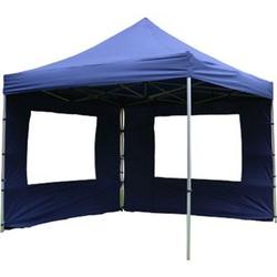 VCM PROFI Falt Pavillon Partyzelt mit 4 Seitenteilen 3x3m blau wasserdichtes Dach