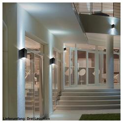 etc-shop LED Wandleuchte, 3er Set Up Down Strahler Alu Beleuchtung Wand Spot Strahler Leuchten Garagen Lampen schwarz