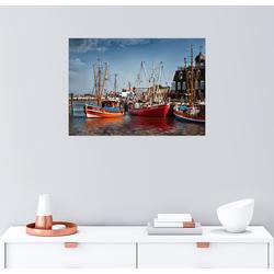 Posterlounge Wandbild, Neuharlingersiel Fischerboote im Hafen 70 cm x 50 cm