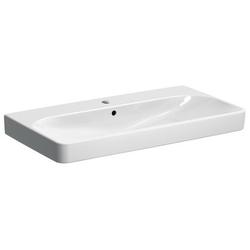 Geberit Waschtisch Square SMYLE mit Hahnloch, mit Überlauf 900 x 480 mm weiß