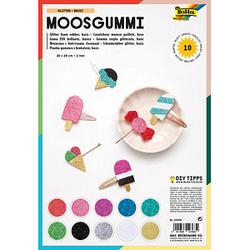 folia Moosgummi Glitter Basic