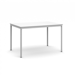 Esstisch, 1200 x 800 mm weiße platte, hellgrauer boden