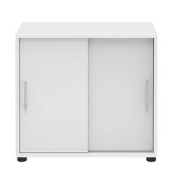 Schiebetüren Büroschrank in Weiß 80 cm