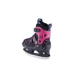 Kinder Schlittschuh LED verstellbar Shiny Schlittschuhe schwarz/pink Gr. 37-40