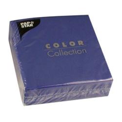 Papstar Servietten, 1/4-Falz, 33 cm x 33 cm, 1-lagig, 1 Karton = 12 Packungen à 100 Stück, dunkelblau