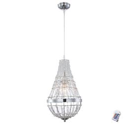Pendel Lampe Esszimmer Kristall Decken Leuchte Kronleuchter DIMMER im Set inkl. RGB LED Leuchtmittel