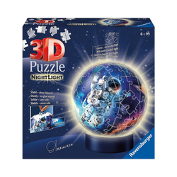Ravensburger 3D-Puzzle 3D-Puzzle-Ball Nachtlicht - Astronauten im, Puzzleteile
