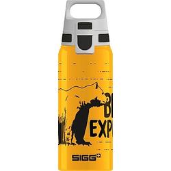 SIGG BRAVE BAER 0.6 L Trinkflasche ALU mit WMB ONE TOP  BPA frei  Auslaufsiche
