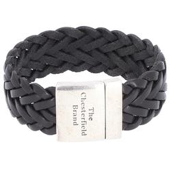 The Chesterfield Brand Avatar Armband Leder 22 cm black