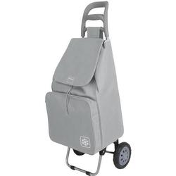 Metaltex Krokus Einkaufstrolley 50L grau mit Kühltasche 415280125