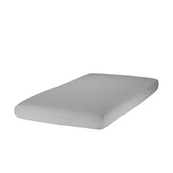 Zöllner Spannbettlaken für Kinderbetten, Jersey ¦ grau ¦ 100% Baumwolle