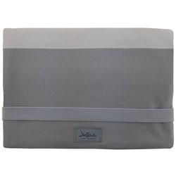 JOLLAA Windeltasche Streifen Grau, Wickeltasche für unterwegs, Tasche für Windeln & Feuchttücher, Windeletui, Wickelmäppchen MADE IN EUROPE