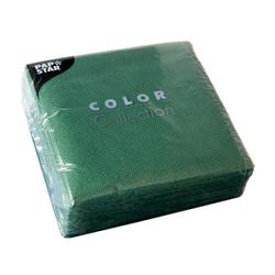 Papstar Servietten, 1/4 Falz, 33 x 33 cm, Mundtuch unifarbig, 3-lagig, dunkelgrün, 1 Karton = 14 Packungen á 50 Stück, dunkelgrün