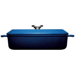 WOLL Kasserolle Iron, Gusseisen, (1 tlg.), Ø 28 cm, Induktion blau Kasserollen Töpfe Haushaltswaren