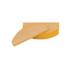 Stufenmatte Natur Sisal Stufenmatten 15er-Set, Pergamon, Halbrund, Höhe 6 mm gelb 18 cm x 56 cm x 6 mm