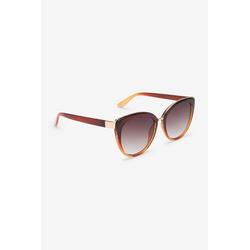 Next Sonnenbrille Glitzernde Cateye-Sonnenbrille braun