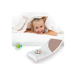 Kindermatratze ECO aus Kokos und Kaltschaum, Alcube, 10 cm hoch, Atmungsaktive Kokos-Matratze für Babybett oder Kinderbett 80 cm x 160 cm x 10 cm