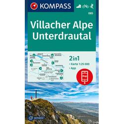 Villacher Alpe Unterdrautal 1:25 000