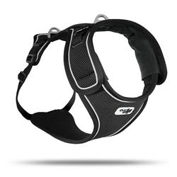 Curli Hunde-Geschirr Belka Geschirr, Polyester schwarz M - 52 cm - 73 cm