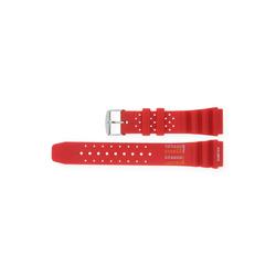 JuwelmaLux Uhrenarmband Uhrband Kunststoff für Taucheruhren Rot 22 mm