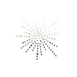 Catch the Patch Aufnäher, Polyester, Schneekristall Strass - Aufnäher, Bügelbild, Aufbügler, Applikationen, Patches, Flicken, zum aufbügeln, Größe: 6,6 x 6,6 cm